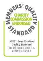 The logo representing charities commission endorsement
